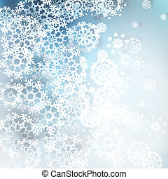 Christmas snowflakes background. EPS 10