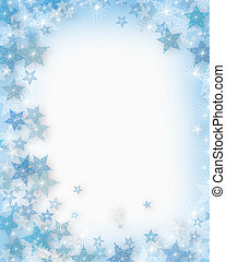 Christmas Snowflakes Background - Illustrated Background,...