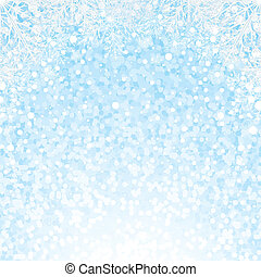 Christmas Snowflakes Background. Vector Background