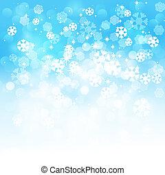 Christmas snowflakes background