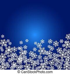 Christmas snowflakes blank frame vector illustration