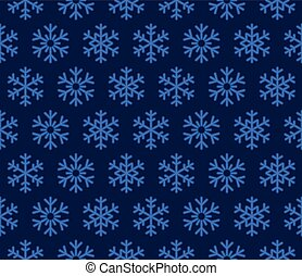 Christmas Snowflakes Blue Background with Seamless Pattern. Vector