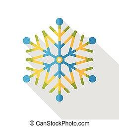 Christmas snowflakes flat icon