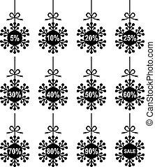 Christmas snowflakes for sale