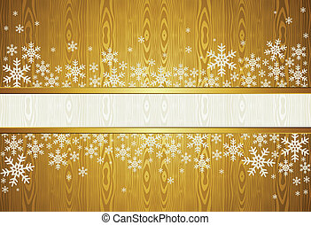 Christmas snowflakes golden background