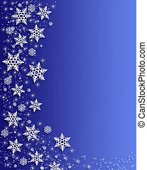 Christmas Snowflakes - Illustrated Background, border or ...