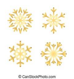 Christmas snowflakes isolated set illustration