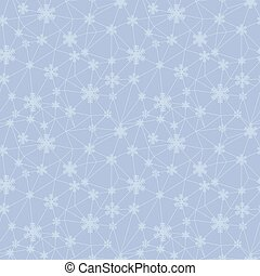 Christmas snowflakes net texture seamless pattern