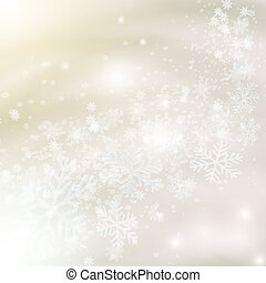 Christmas snowflakes on abstract light grey background