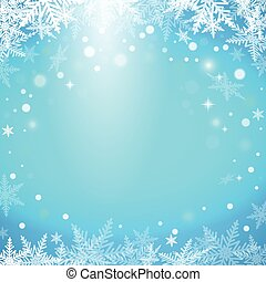 Christmas snowflakes on blue background. Vector illustration...