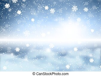 christmas snowflakes on defocussed winter background 3107
