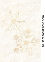 Christmas snowflakes ornaments on snow background