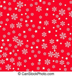 Christmas Snowflakes red Background. Seamless Repeating Pattern