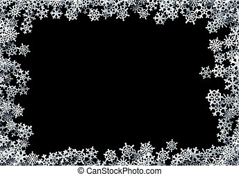 Christmas snowflakes scattered card for winter holidays with...