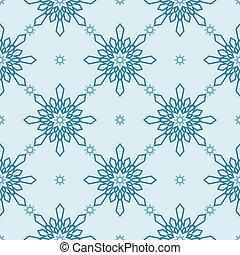 Christmas snowflakes seamless background.