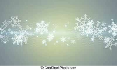 christmas snowflakes seamless loop
