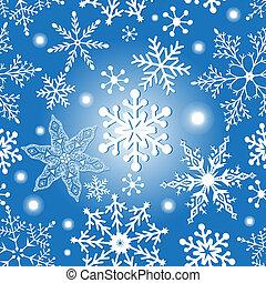 Christmas snowflakes texture - Christmas seamless bright...