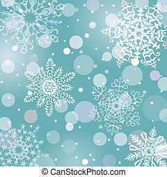 Christmas snowflakes vector background
