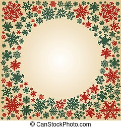Christmas snowflakes vector card