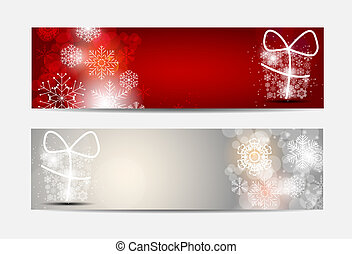 Christmas Snowflakes Website Banner and Card Background ...