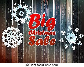 Christmas snowflakes with big sale.