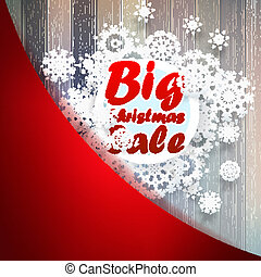 Christmas snowflakes with big sale. + EPS10