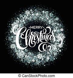 Christmas Snowflakes Wreath. Vector illustration