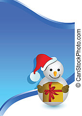 christmas snowman card background