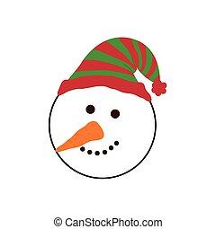 Christmas Snowman Cartoon Icon Vector Illustration Graphic Design