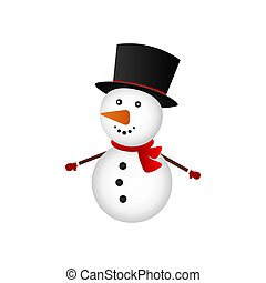 Christmas Snowman on white background