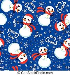 Christmas Snowman Pattern