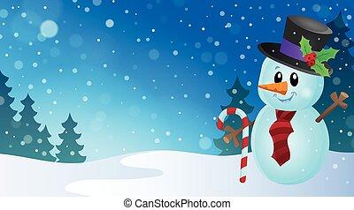 Christmas snowman theme image 9