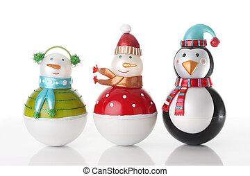Christmas snowmen ornaments.