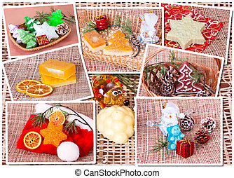 Christmas  soap -  Handmade Soap. Christmas collage