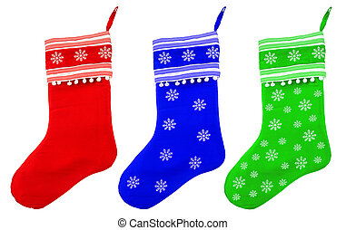 christmas socks with white snowflakes for Santa gifts