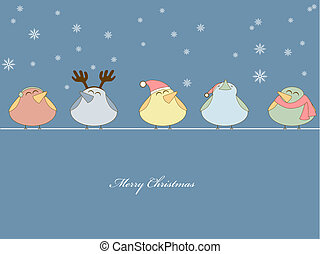 Christmas song - Vector pictire of birds singing christmas ...