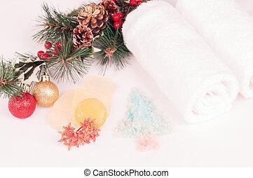 Christmas spa break with bath salt