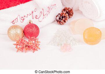Christmas spa holiday close up