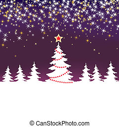 Christmas sparkle  background with tree