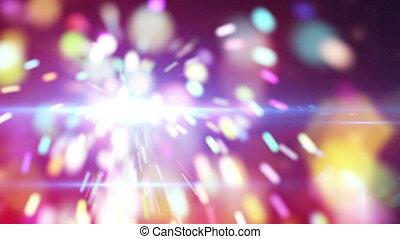 christmas sparkler close-up loop