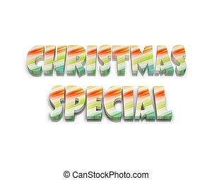 christmas special 3d word