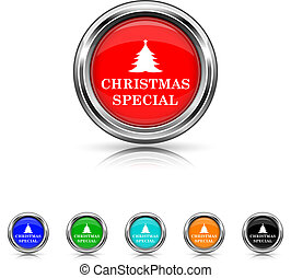 Christmas special icon - six colours set