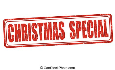 Christmas special sign or stamp