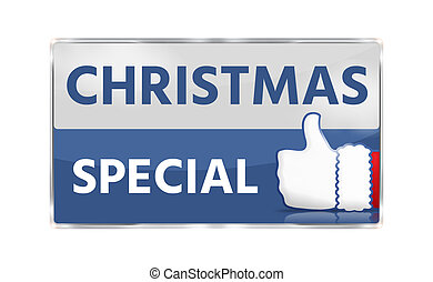 christmas special thumbs up button icon