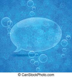 Christmas speech bubble. - Vector illustration of modern...