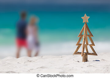 Christmas spent down at the beach - Rustic timber driftwood...