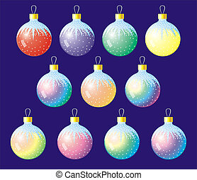Christmas spheres - A series of christmas spheres on a ...