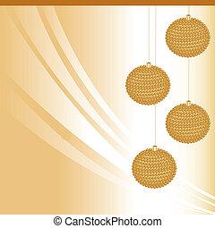 Christmas spheres golden