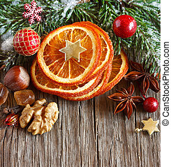 Christmas spicy composition. - Christmas decoration with...
