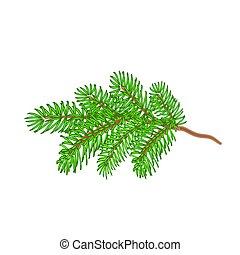 Christmas spruce twig tree